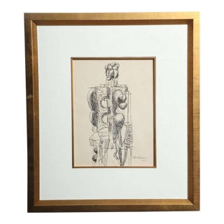 Abbott Pattison Ink on Paper For Sale