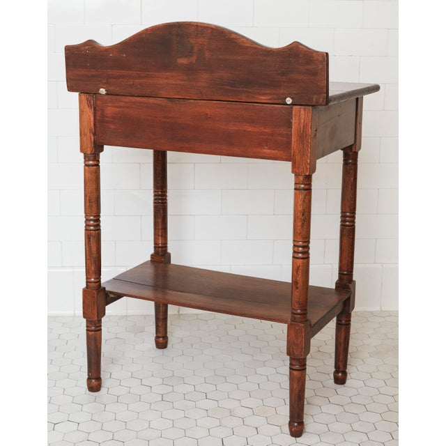 19th Century Traditional Fruitwood Wash Table With Lined Drawer For Sale - Image 4 of 8