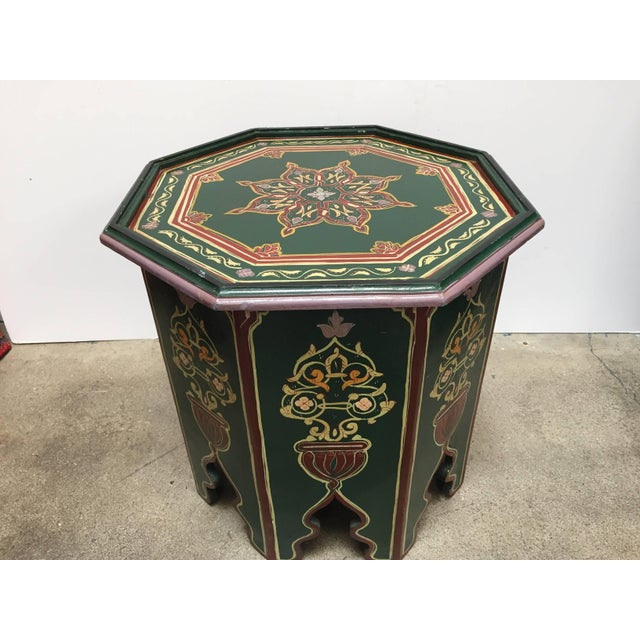 Moroccan Hand-Painted Table With Moorish Designs For Sale - Image 12 of 12