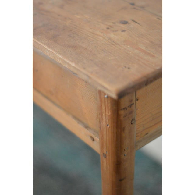 Antique French Farmhouse Pine Desk - Image 8 of 8