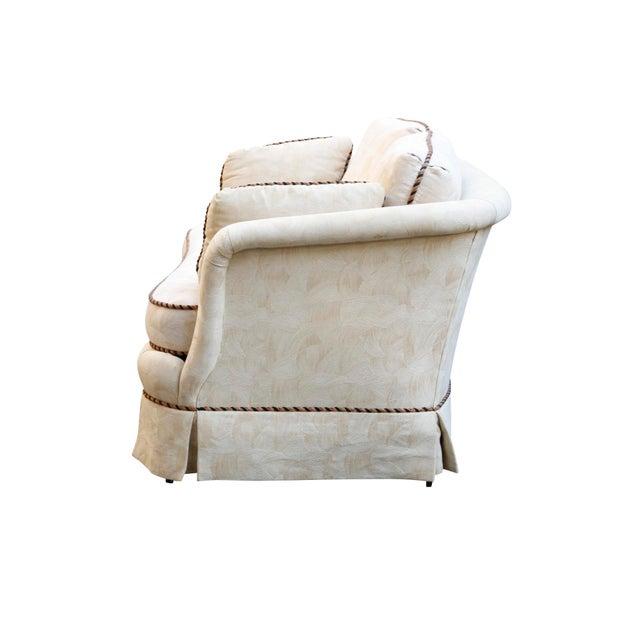 Sherrill Mid Century Style Tuxedo Sofa in Cream - Image 3 of 8