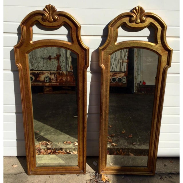 Vintage Gold Mirrors- A Pair - Image 3 of 6