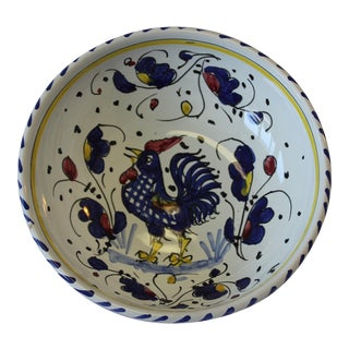 Vintage Sberna Deruta Italian Ceramic Bowl For Sale
