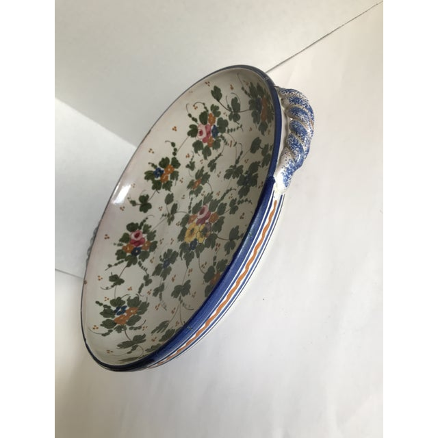 1980s Vintage Rustic Tuscan Pottery Bowl For Sale - Image 5 of 12