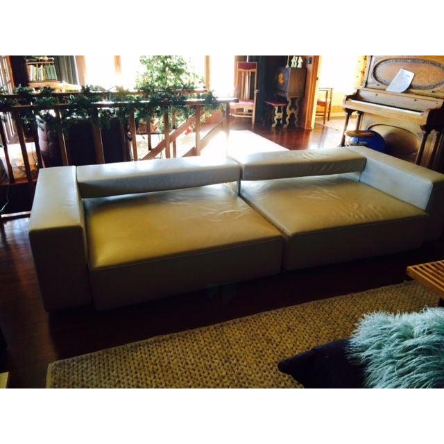B&B Italia Andy Cream Leather Sofa - Image 4 of 4