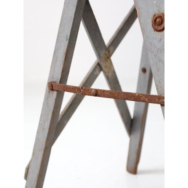 Vintage Wooden Step Ladder For Sale - Image 10 of 12