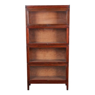 Shaw Walker Mid-Century Four-Stack Barrister Bookcase For Sale