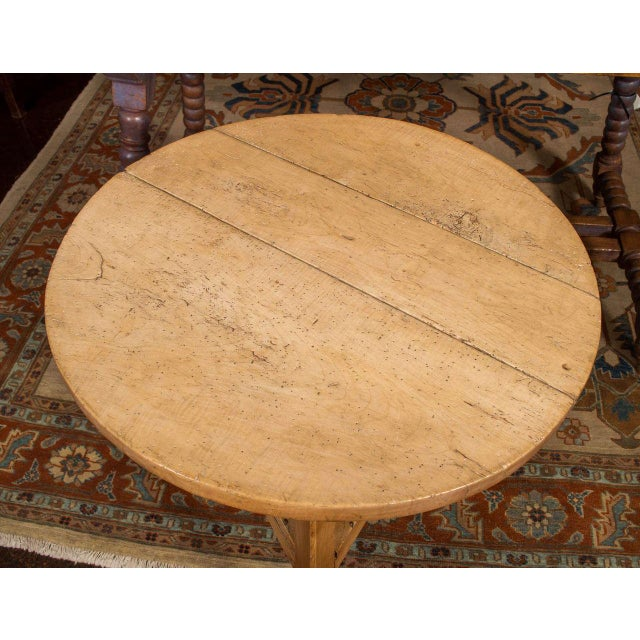 Sycamore Cricket Table With Triangular Shelf, English Circa 1860 For Sale - Image 4 of 5