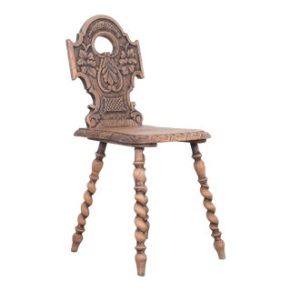 Late 19th Century French Carved Chair For Sale
