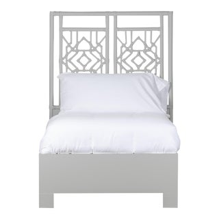Tulum Bed Twin Extra Long - Light Gray For Sale