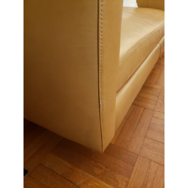 Leather Room & Board Tan Classic Leather Sofas - A Pair For Sale - Image 7 of 9