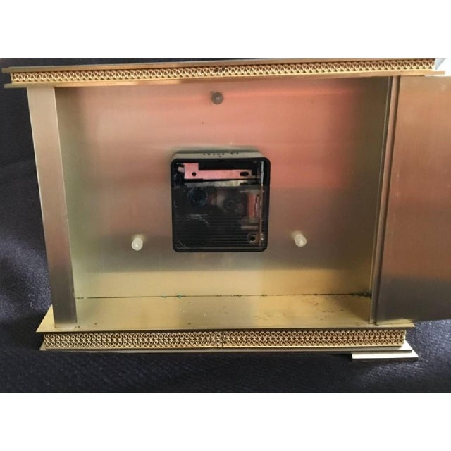 Brass Mantel Clock from Atlanta, 1979 For Sale - Image 4 of 6