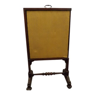 19th Century Antique Fireplace Screen Shield For Sale