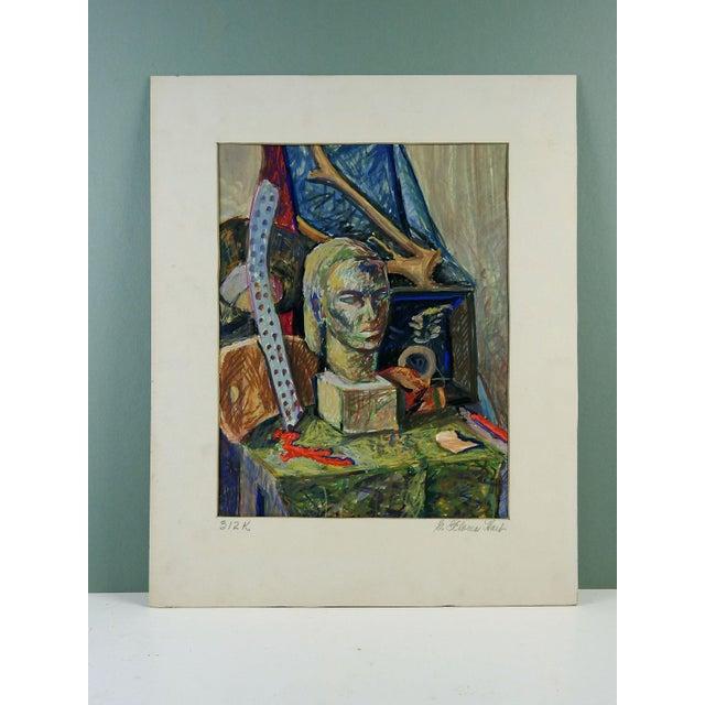 Mid-Century Modern Modernist Still Life by Geneva Hart For Sale - Image 3 of 3