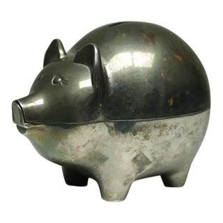 Vintage Silver Plated Piggy Bank C. 1970-1980