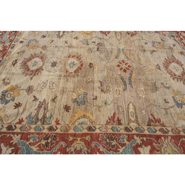 "Textile Sultanabad Persian Rug - 8'1"" x 10'2"" For Sale - Image 7 of 9"