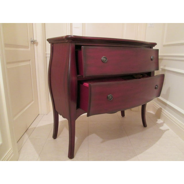Deep Red Bombe Chest - Image 4 of 9