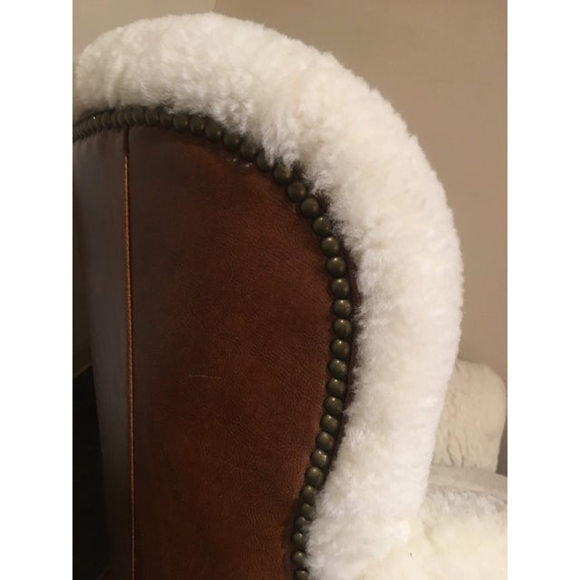 Animal Skin Shearling Arm Chair by Lee Industries For Sale - Image 7 of 13