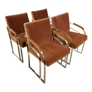 Vintage Auburn Dining Chairs - Set of 4 For Sale