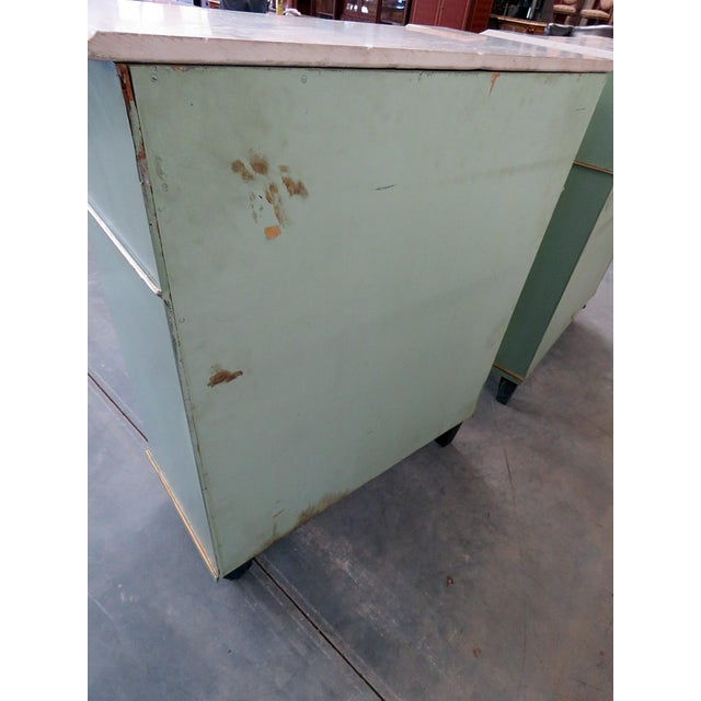 Marble Pair of Marble Top Empire Style Commodes For Sale - Image 7 of 10