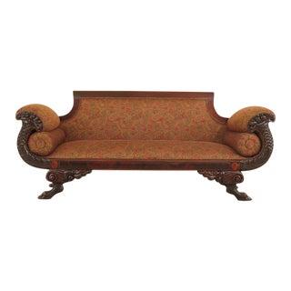 Empire Duncan Phyfe Mahogany Sofa