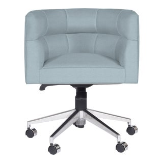 Casa Cosima Perry Desk Chair, Brisa Sterling Blue For Sale