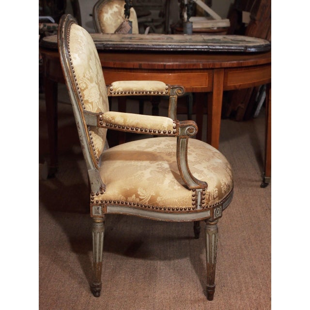 Mid 18th Century 18th Century Set of Six Transition Armchairs Stamped F.Geny For Sale - Image 5 of 11