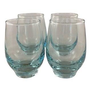 Libbey Aqua Blue Tempo Juice Glasses - Set of 4 For Sale