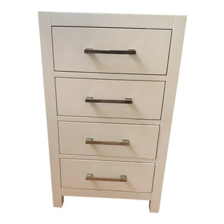 Restoration Hardware 4 Drawer White Chest For Sale