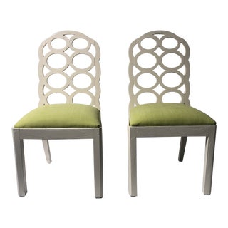 Frances Elkins Chairs- A Pair For Sale