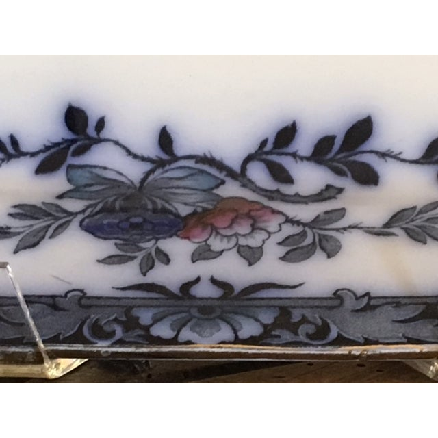 Late 20th Century English Staffordshire Style Ironstone Blue & White Platter For Sale - Image 6 of 13
