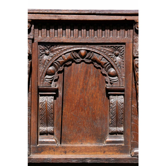 17th Century Charles II Oak Coffer For Sale - Image 5 of 12
