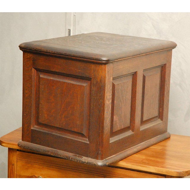 This compact American file, circa 1890, is made in oak and has a rich brown color. Just the type item to add interest to...