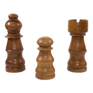 1970s Vintage Life Size Chess Set- 3 Pieces For Sale