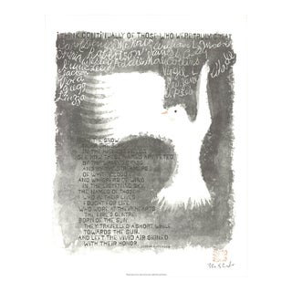 "Ben Shahn I Think Continually 19.75"" X 15.25"" Offset Lithograph 1965 Modernism For Sale"