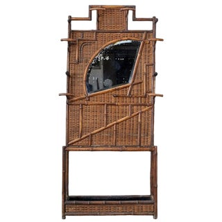 English Aesthetic Movement Bamboo Hall Tree Coat Rack For Sale