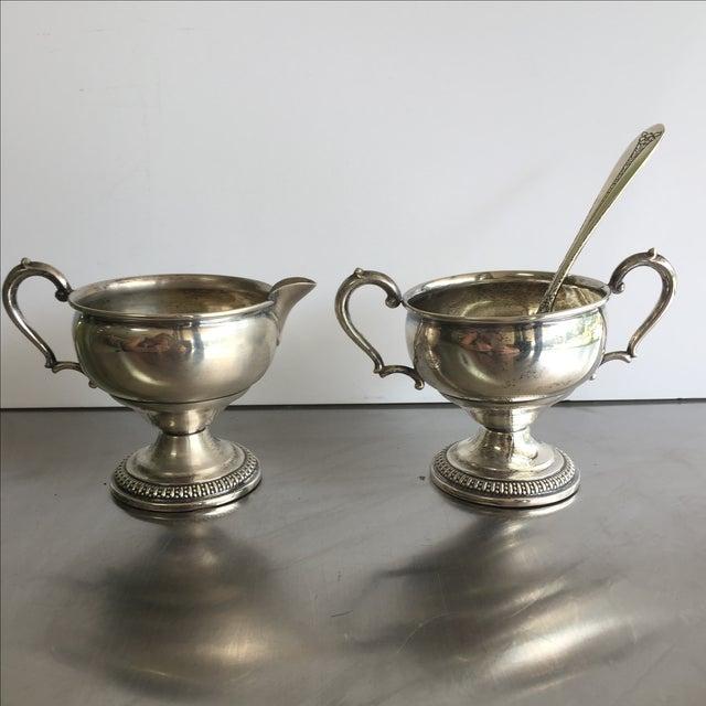 Sterling Silver Creamer, Sugar, & Spoon - Set of 3 - Image 2 of 5