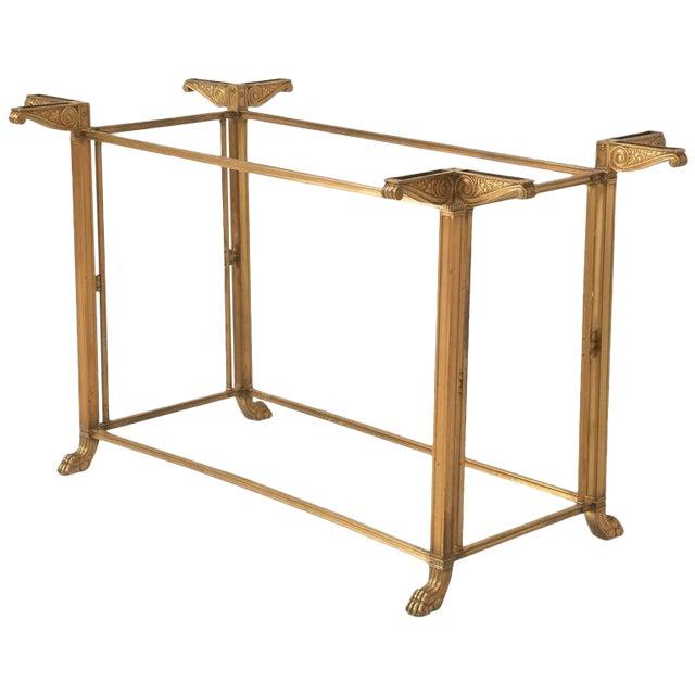 Vintage Bronze Table or Kitchen Island Base For Sale