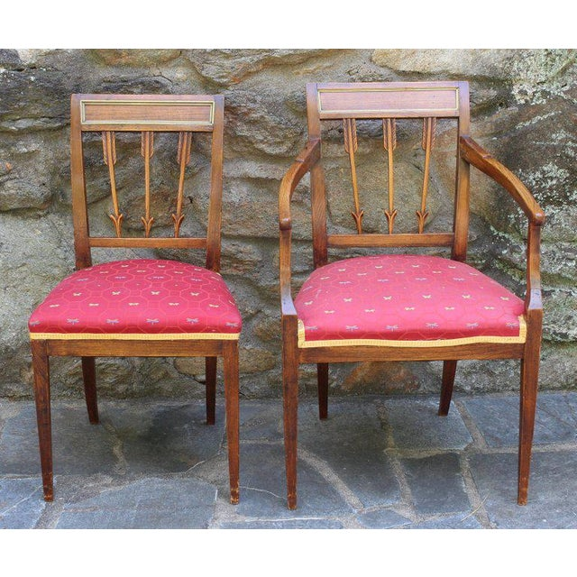 Early 19th Century Set of Six Continental Neoclassical Dining Chairs For Sale - Image 5 of 10