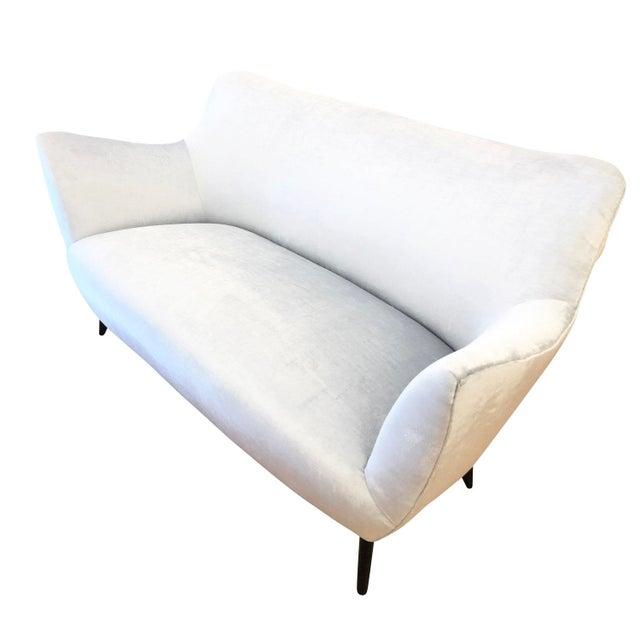 "Textile Guglielmo Veronesi ""Perla"" Sofa, Italy, 1950's For Sale - Image 7 of 7"