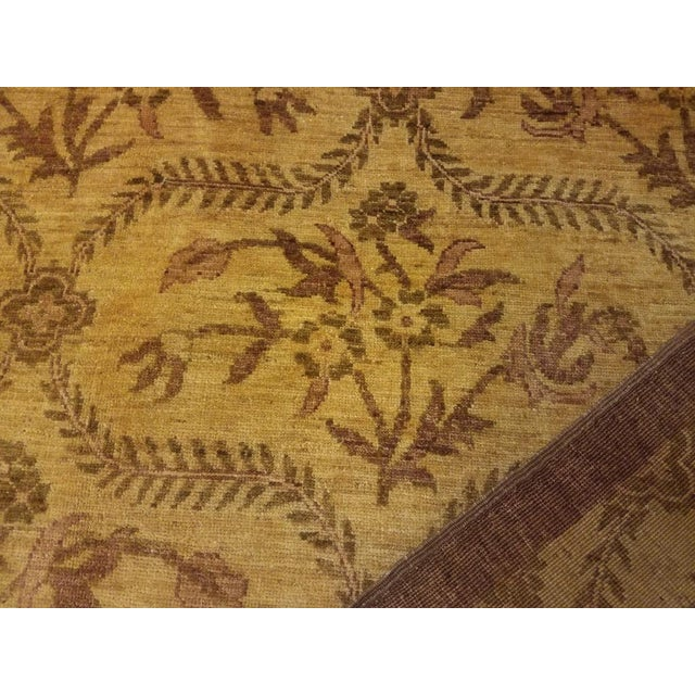 Kafkaz Peshawar Coralee Gold & Purple Wool Rug - 8'10 X 12'0 For Sale In New York - Image 6 of 7