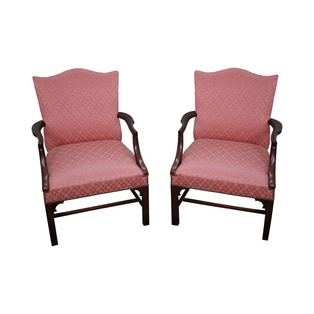 Antique 1930 Chippendale Armchairs - A Pair - Image 1 of 10