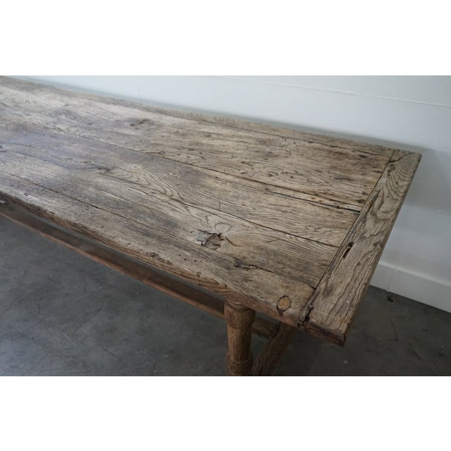 Wood Antique Oak Dining Table For Sale - Image 7 of 10