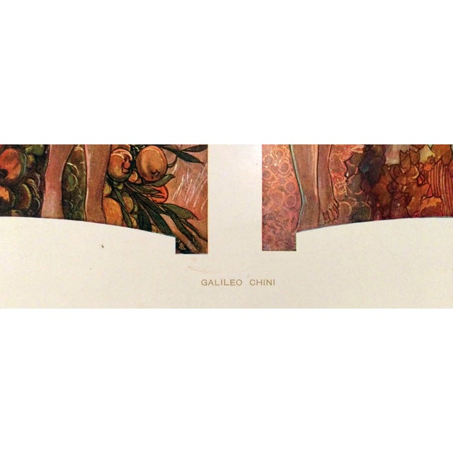 1910 Galileo Chini Decorative Panel Lithograph - Image 5 of 7