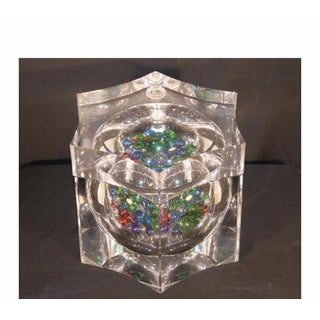 Vintage Lucite Box Ice Bucket Swivel Lid Alessandro Albrizzi Mid Century Modern Preview