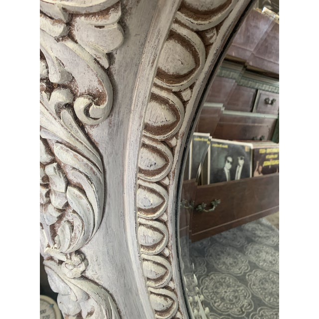 Wood 1990s Grand Baroque Mirror For Sale - Image 7 of 13