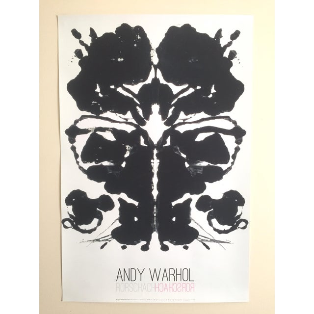 "Lithograph Andy Warhol Original Lithograph Print Pop Art Poster ""Rorschach Ink Blot"", 1984 For Sale - Image 7 of 7"