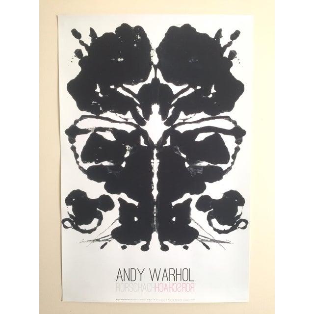 "Andy Warhol Original Lithograph Print Pop Art Poster ""Rorschach Ink Blot"", 1984 - Image 7 of 7"