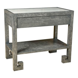 Greek Key Side Table by Paul Marra For Sale