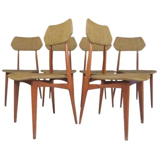 Mid-Century Ico Parisi Style Dining Chairs - Set of 6 For Sale